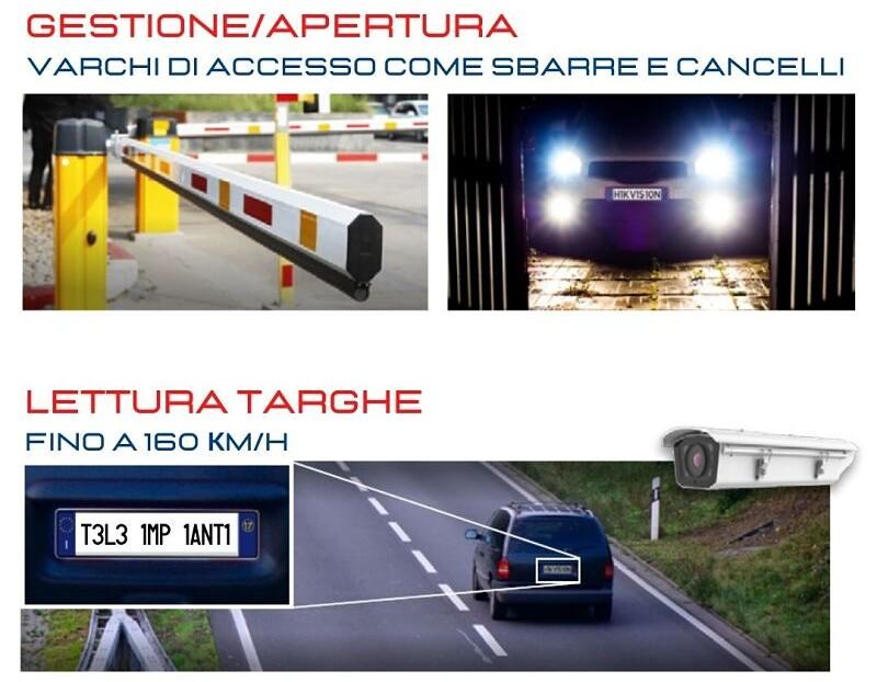 Riconoscimento targhe automatico con telecamere ANPR